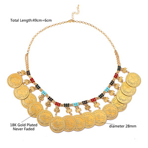 Image 5 - Metalen Munt Grote Allah Moslim Kettingen Voor Vrouwen Arabische Munten Luxe Huwelijksgeschenken Islam Midden oosten Afrikaanse Sieraden Nieuwe
