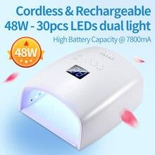 Бесплатная доставка 48 Вт Беспроводная светодиодная УФ лампа