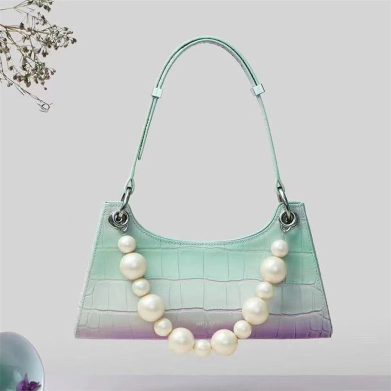 bolsas femininas arco-íris gradiente corrente sacos de
