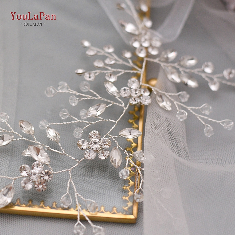 Купить с кэшбэком YouLaPan SH65 Wedding Belt Rhinestone Wedding Dress Sash belt Crystal Wedding belt Thin Belts Wedding Accessories Bridal Belts