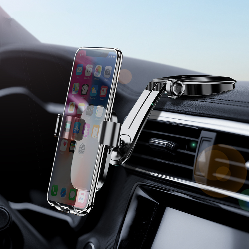 Redgiko Foldable Car Phone Holder Gravity Dashboard Paste Mobile Phone Stand Universal Smartphone For IPhone Samsung Huawei