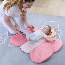 Складная Подушка для душа с четырьмя лепестками цветов для новорожденных, детский Коврик для ванны с цветущими цветами, Нескользящая подушка для сиденья для ванной