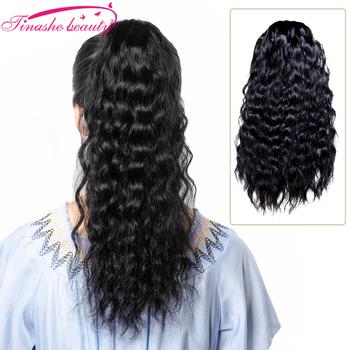 Tinashe uroda naturalne faliste sznurkiem kucyk ludzki włos Afro dopinki na klips brazylijski koński ogon Remy naturalny czarny czarny tanie i dobre opinie Tinashe Beauty Włosy remy 100 g sztuka Na klipsy Realny kolor Brazylijskie włosy