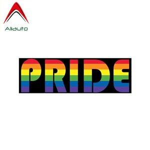 Aliauto индивидуальная наклейка для автомобиля, аксессуары для геев, гордыни, радуги, ПВХ покрытие, наклейка на царапины для Volvo Honda Civic Mitsubishi,15 с...