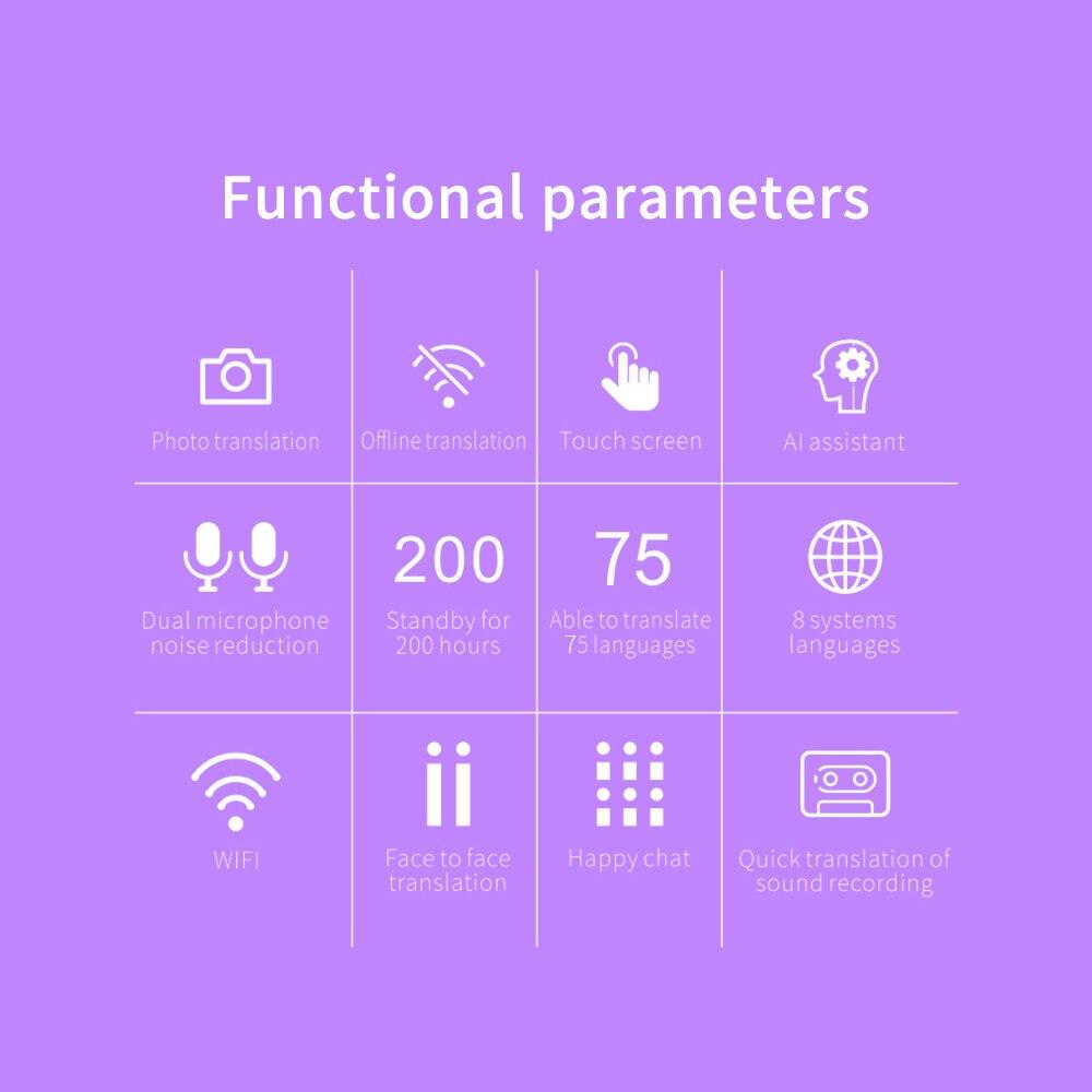 Image 5 - Portable AI Smart Voice Translator traductor de idiomas en tiempo real 76 Language instant Translator Photo Offline translation-in Translator from Consumer Electronics