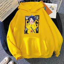 Pregunto huevo prioridad Anime sudaderas con capucha de las mujeres coreanas Tops sudadera estética ropa Kawaii manga larga lindo Streetwear Ai