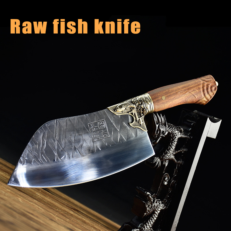 Cook Kitchen Chef Knives Set Fixed Blade Meat Knife Handmade Sharp Cleaver Vegetable Cutter Cooking Tools Accessories