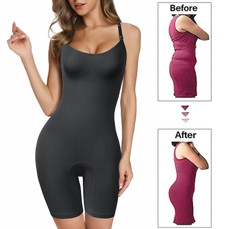 Shapewear for Women Waist Trainer Full Body Shaper Seamless Bodysuit Shaper Briefer Faja Tummy Control Butt Lifter