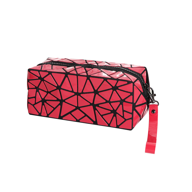 LOVEVOOK Women Makeup Bag Cosmetic Bags For Ladies Geometric Cuboid Pouch Travel Organizer Kids Storage Pencil Case Purse Bag