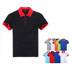 solid Polo shirt men's short-s
