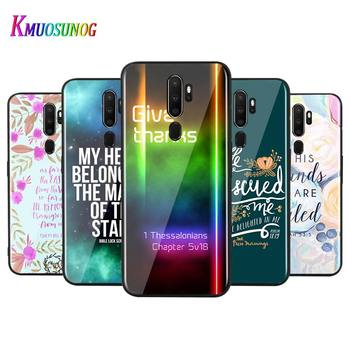 For OPPO A5 A9 2020 F7 Phone Cover Biblical scriptures for OPPO Reno 2 Z 2Z 2F 3 4 Pro 5G Bright Black Phone Case image
