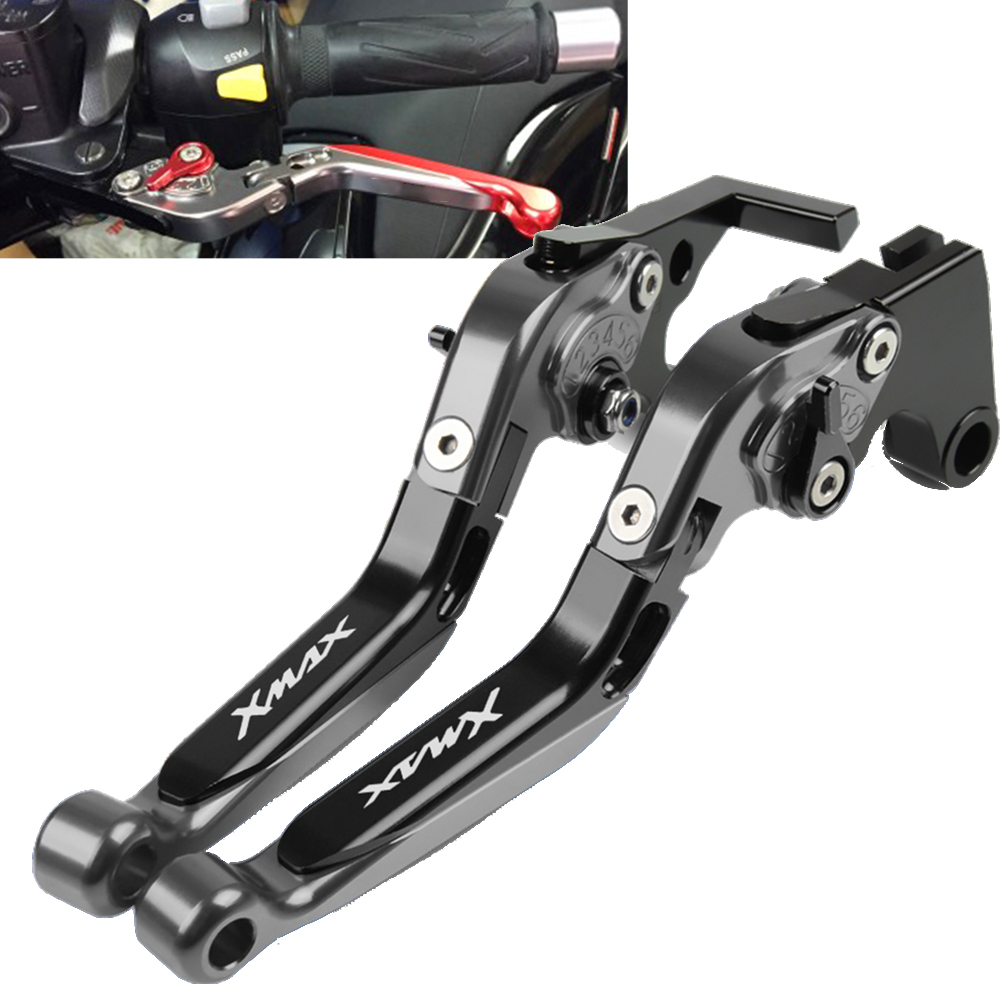 Brake Handle Adjustable Motorcycle Clutch Brake Lever Handle For <font><b>Yamaha</b></font> <font><b>XMAX</b></font> <font><b>125</b></font>/200/250/400 2014 2015 2016 2016 2018 all years image