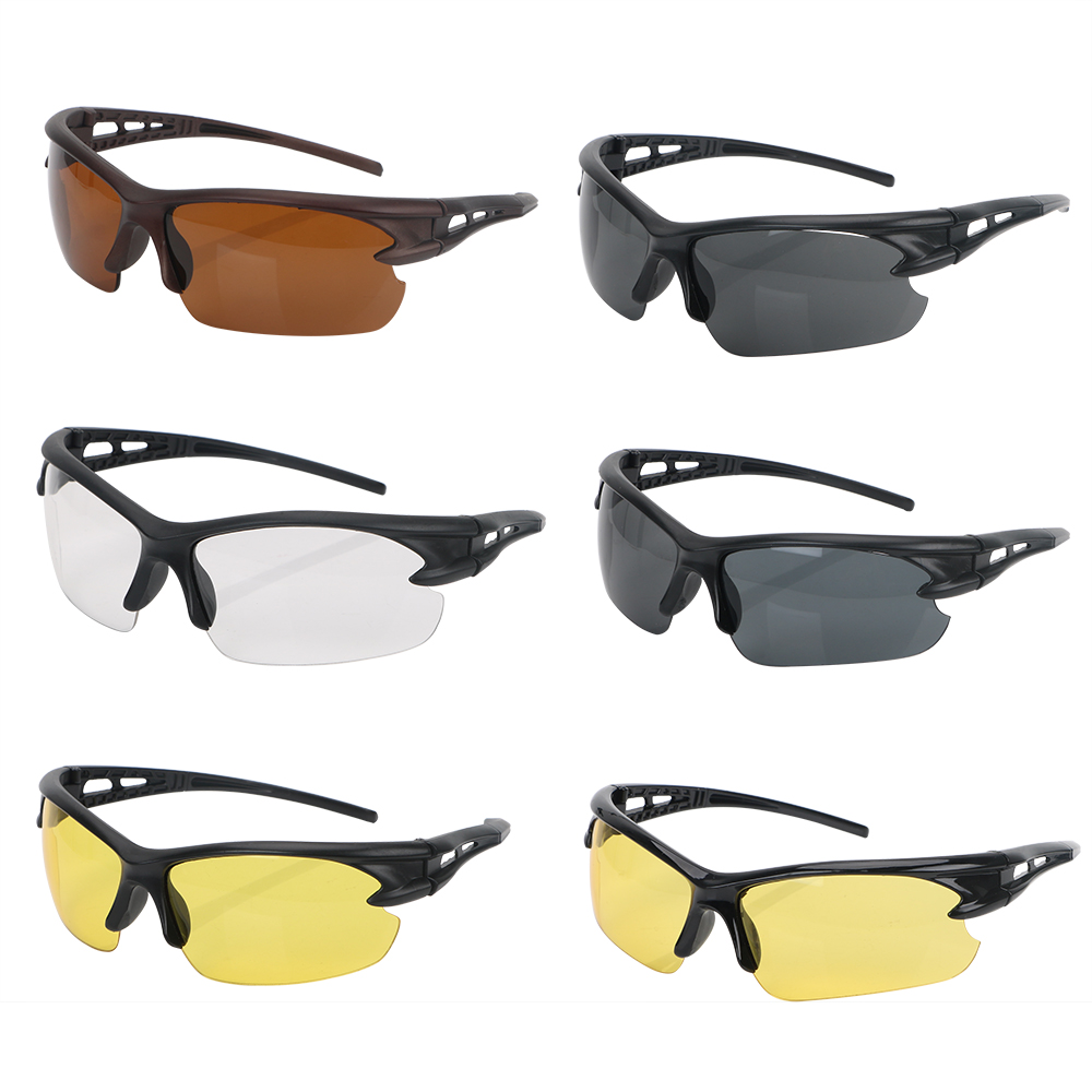 LEEPEE Windproof Explosion-proof Sunglasses For Outdoor Riding Insect Proof Plain Glass Spectacles Night Vision Glasses
