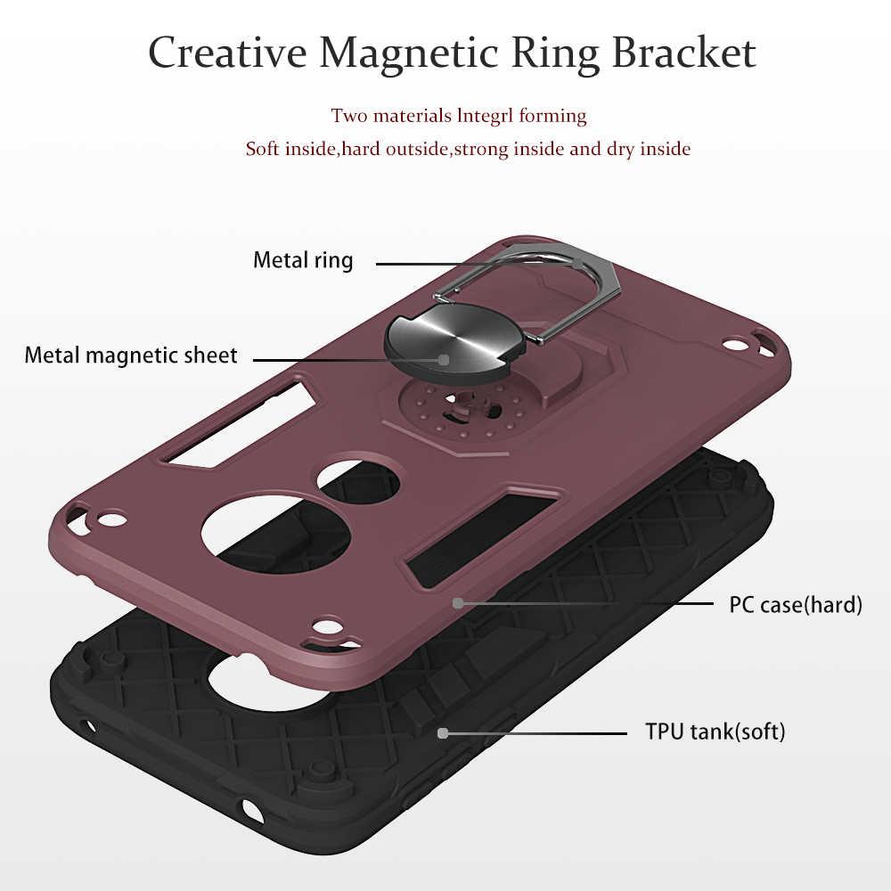 Avec support de voiture magnétique étui en Silicone souple pour estojo Moto E5 Casa téléphone couvre Csse sFor Moto carcaso Motorola G6 Play