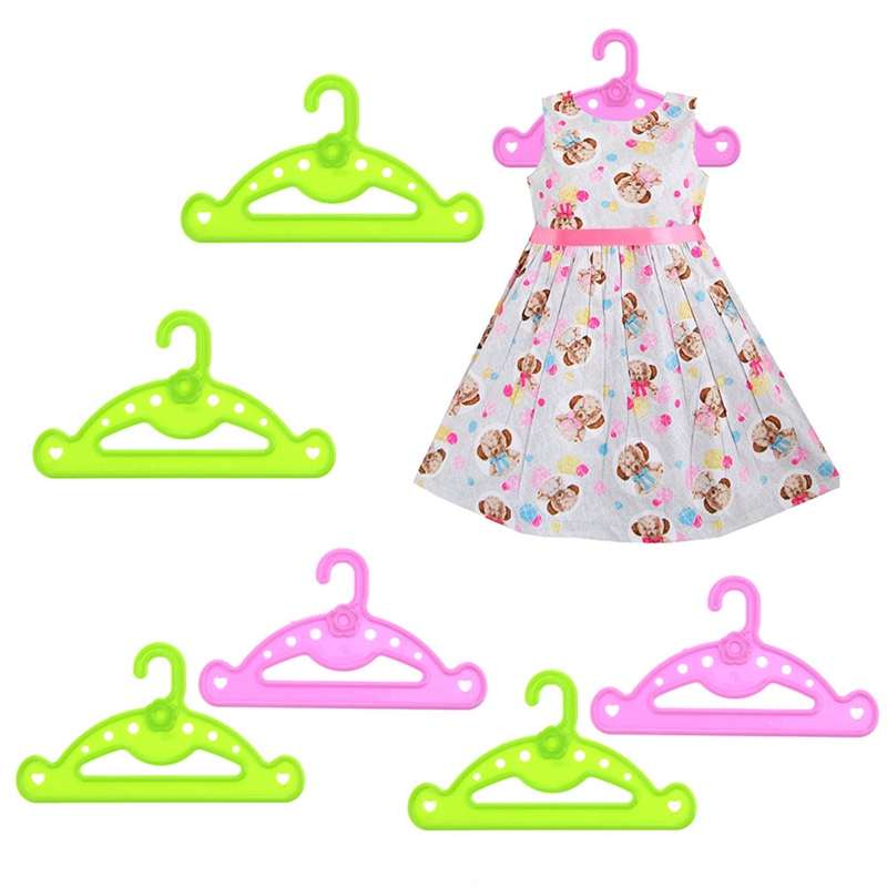 5pcs Hangers doll clothes accessories hanger fit 18 inch doll /&43cm  doll H.Bh