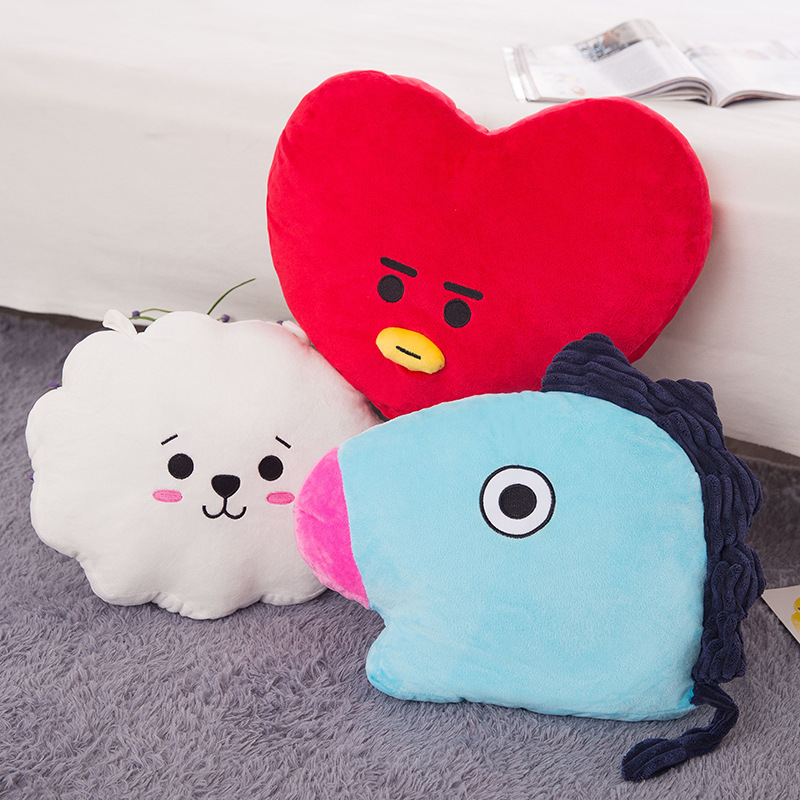 BTS Bulletproof Boys Pillow tj heng Tata Doll RJ shooky Doll BT21 Plush Toys