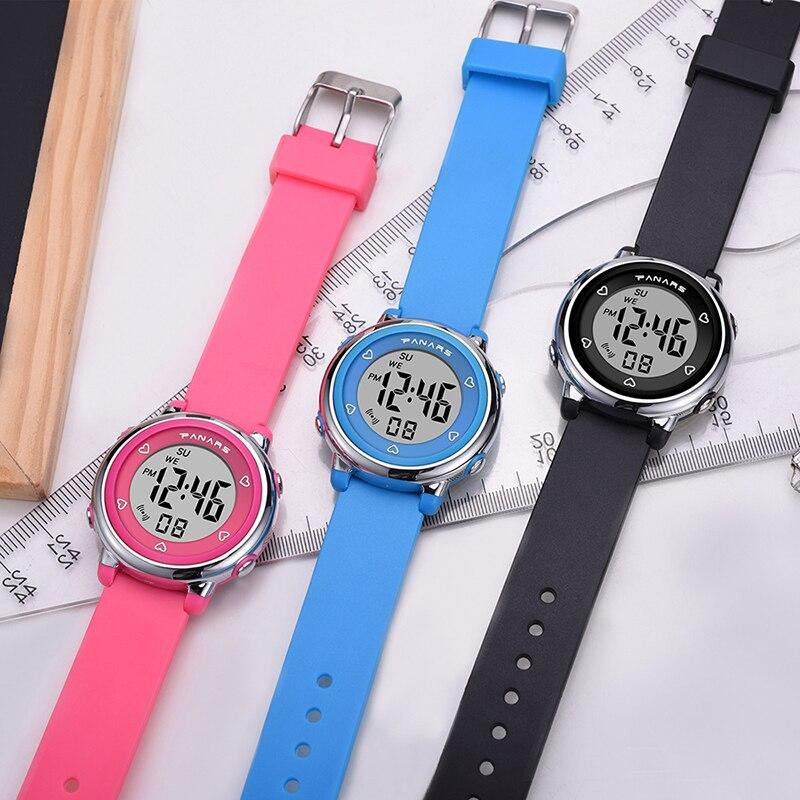 Спорт дети часы 50 м водонепроницаемый SYNOKE бренд будильник часы многофункциональный часы студент часы для мальчика и девочки подарки