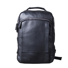 Backpack Men Fashion Genuine Leather Backpacks Anti-theft Bags Preppy Style College Teenager School Bag For 15 Inch Laptop Bag high quality england vintage style genuine leather men backpacks for college school backpacks for 14 inch laptop bags 9024