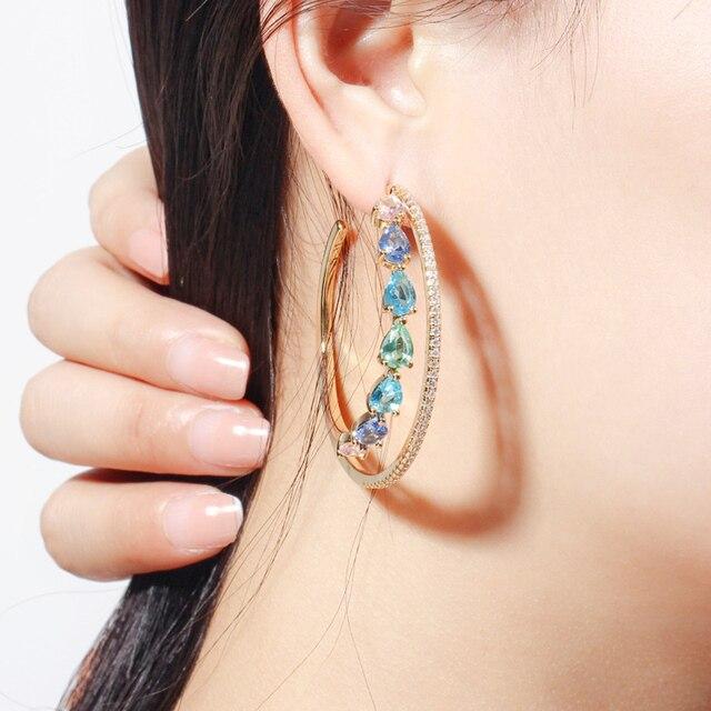 Boucles d'oreilles Femmes Double cercle