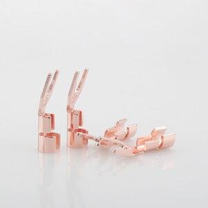 Image 3 - 8 pièces CMC solide cuivre pique prise haut parleur câble fil connecteur HiFi