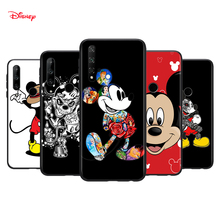 Silicone Cover Dark Mickey Mouse For Honor 30 30S V30 V20 9N 9S 9A 9C 20S 20E X10 20 7C Lite Pro Plus Phone Case