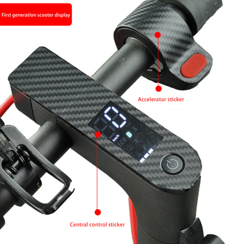 Scooter Protective Film Scooter Central Controller Sticker Carbon Fiber PVC Sticker For Xiaomi M365 Electric Scooter Accessories image