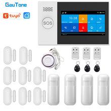 GauTone PG107 4.3 inç güvenlik Alarm Wifi GSM Alarm sistemi ev desteği için Tuya APP çağrı/SMS uzaktan kumanda