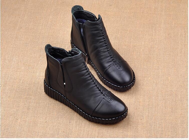 couro genuíno artesanal senhora macio sapatos planos