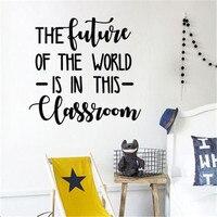 Pegatinas de pared de clase motivacionales para estudiantes, carteles de decoración, frases inspiradoras