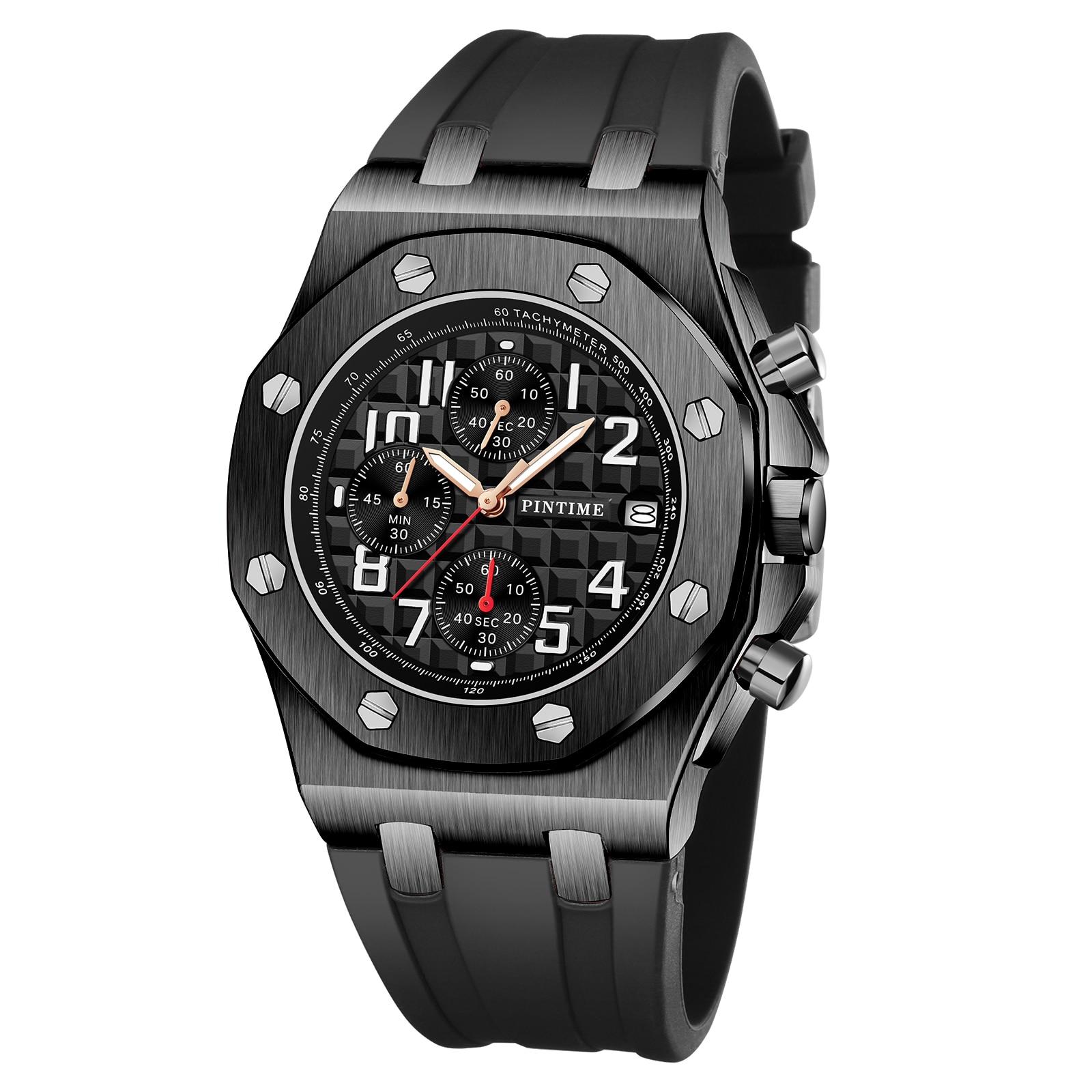 PINTIME Mens Watches Top Brand Luxury Military Sport Watch Men Waterproof Quartz Date Wristwatch Relogio Masculino Reloj Hombre