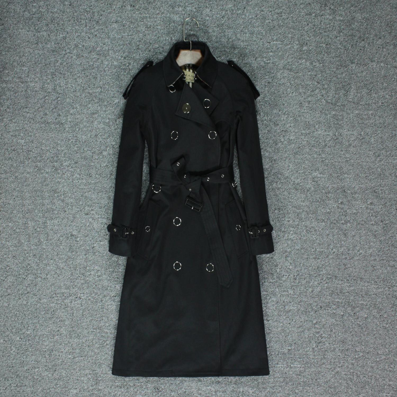 English Wind Ladies Windbreaker Autumn Knee-length Atmospheric Windproof Coat Women's Coat