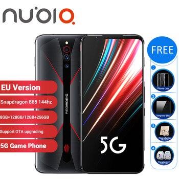 Перейти на Алиэкспресс и купить Игровой смартфон Nubia Red Magic 5G, 128 Гб ПЗУ, 8 ГБ ОЗУ 6,65 дюйма, Snapdragon 865 NFC Redmagic 5G