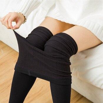 Otoño Invierno moda mujer más Leotardos de cachemir de alta calidad de punto terciopelo medias elásticas delgadas calientes medias gruesas 2020 nuevo