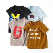 Girls Shirts 2019 Children Summer Clothing Baby Boy T Shirt 100% Cotton Short Sleeve T-shirt Tops Casual Sport