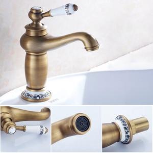 Image 3 - MOLI Bathroom Sink Faucet Gold Basin Single handle Faucets Diamond Water Mixer Crane Hot Cold Chrome Bath Brass Mixer Tap ML201