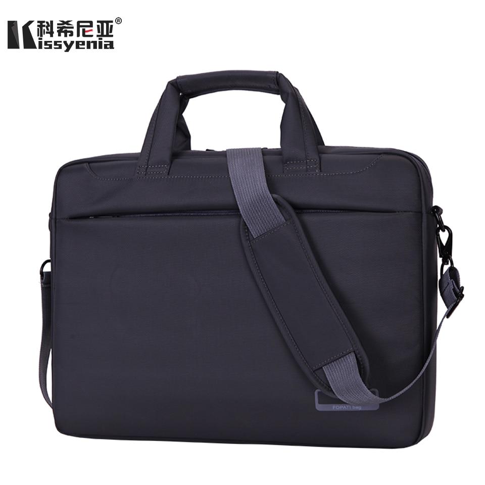 Kissyenia Business Travel Men's Laptop Briefcase 15inch Waterproof PC Tablet A4 Laptop Bag Shockproof Bolsa Masculina KS1197