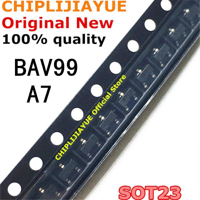 100PCS BAV99 A7 A7W SOT-23 0.2A/70V SOT23 SOT SMD New And Original IC Chipset