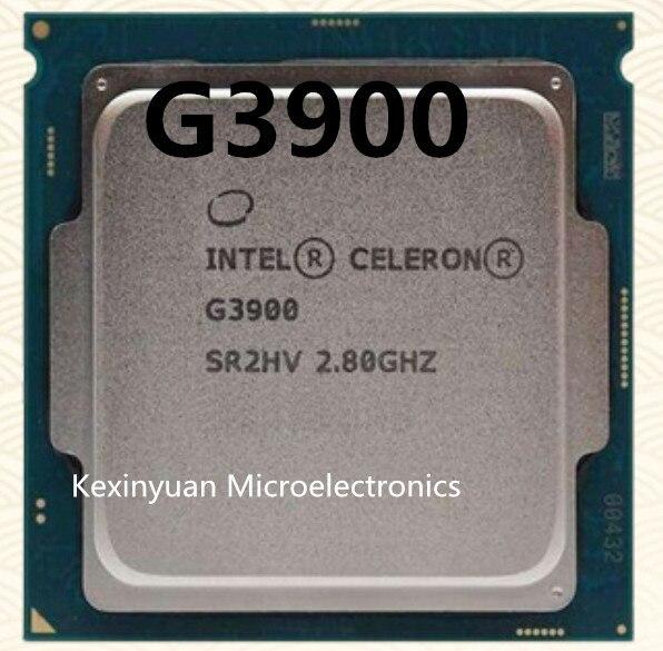 Processeur Intel Celeron G3900 g3900 2 mo Cache 2.80GHz LGA1151 double coeur processeur de bureau peut fonctionner