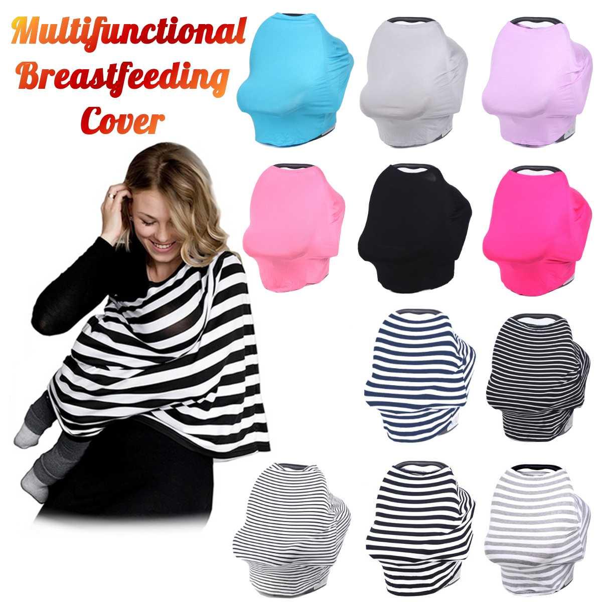 US 4 in1 Nursing Breastfeeding Scarf Cover Shawl Baby Kids Car Seat Canopy Tool