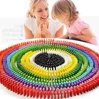 120 teile/satz Bunte Dominosteine Holz Blöcke Kinder Frühe Pädagogische Spielen Spielzeug Neue