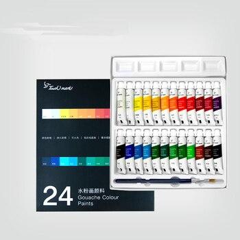 5 Ml Aluminium Buis Aquarel Verf Set 12/18/24 Kleur Student Kunst Schilderij Gereedschap Gouache op