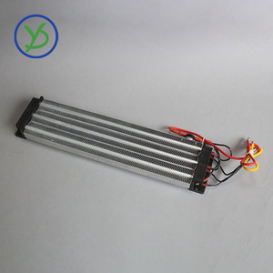 Image 3 - 2500W 220V AC DC Industrial heater PTC ceramic air heater Electric heater Insulated  330*76mm with thermostat protector
