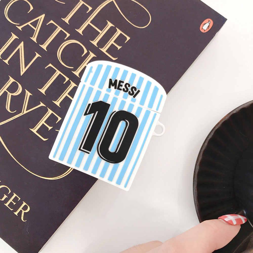 Legal do Futebol Argentina Messi No. 10 Jersey Casos de Fone De Ouvido Para A Apple Airpods 1/2 Proteção De Silicone Fone de Ouvido Acessórios de Cobertura