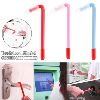 Newly Elevator Button Stick Touching Free Door Open Handle Contactless Button Protection Appliances