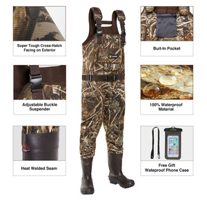 Image 2 - TideWe Hunting Fishing Chest Waders for Men Women Realtree MAX5 Camo with 600G Insulation Waterproof Cleated Neoprene Bootfoot