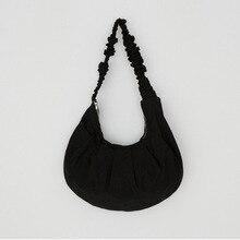Korean style Canvas women shoulder bag Large capacity ladies hand bag Lightweight Shopping bags big tote bags blue Hobos