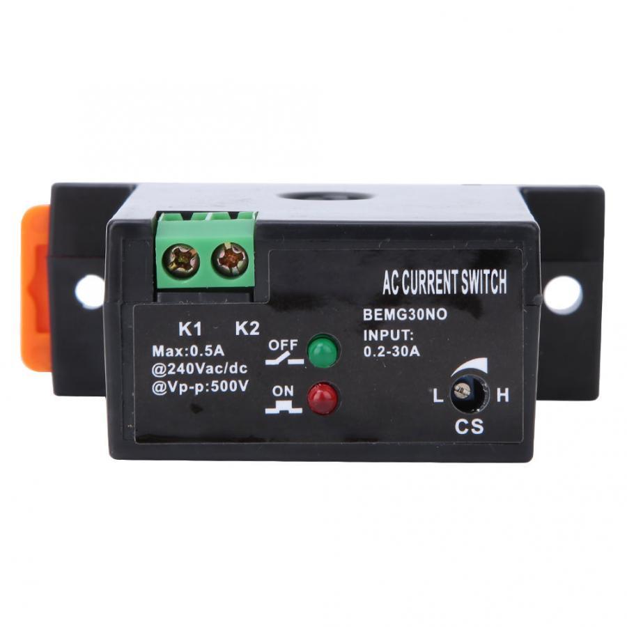 Переключатель датчика, огнестойкий регулируемый ток переменного тока 0,2-30 А, Swtich 0,5 А12-240 В переменного тока/постоянного тока, самоуправляемый датчик, нормально открывающийся