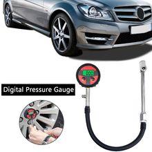 Digital Tire Inflator Pressure Gauge 200PSI LCD Display Air Compressor Pump Coupler For Car Motorcycle C45