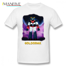 Goldorak T Shirt T-Shirt Printed Oversized Tee Fun 100 Cotton Man Classic Short Sleeves Tshirt