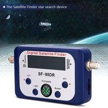 Uydu bulucu GSF 9506 dijital uydu bulucu TV sinyal Mini anten uydu için LCD ekranlı TV